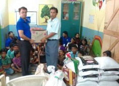 Team Odisha Child Help Foundation supporting kids of Ashraya Orphanage, Bhubaneswar, Odisha