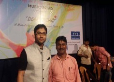 Singing competition conducted with music ustad
